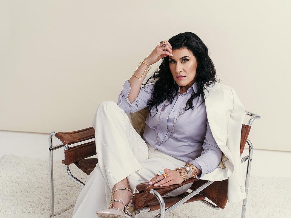 professional womenswear office attire white suit lavender shirt.jpg