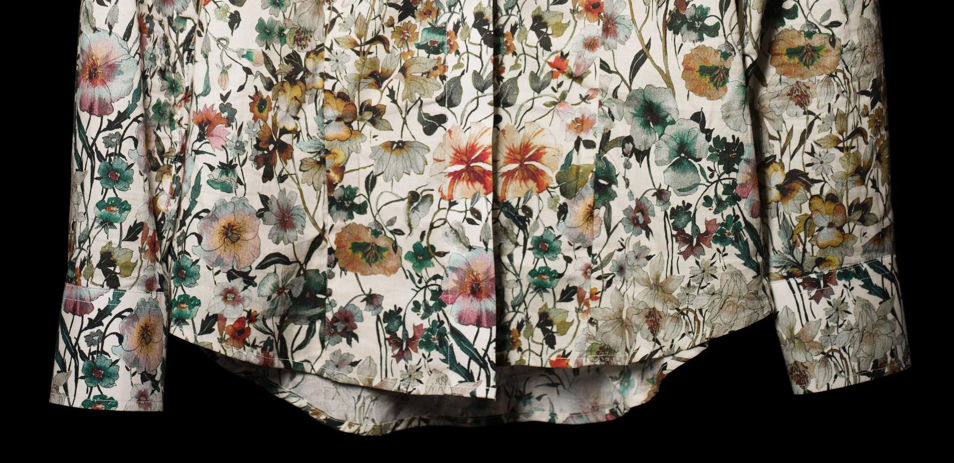 Flower Print Dress Shirt