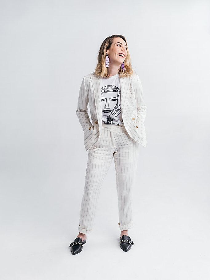 Eleanora Morrison womens custom white pi