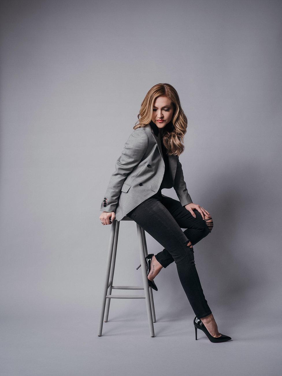 Womens custom houndstooth jacket holland