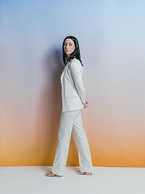 daybreak custom womens suit white tessil