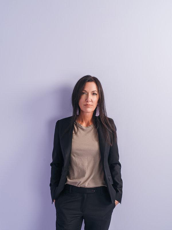 Dawn Southard women's custom black suit
