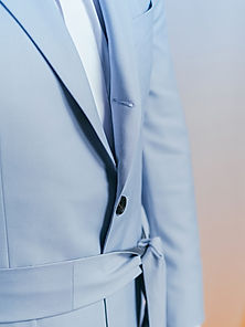 dusk three-roll-two jacket powder blue c