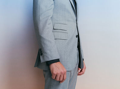 eclipse gray sharkshin suit ticket pocke