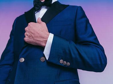 midnight blue custom mens tuxedo jacket