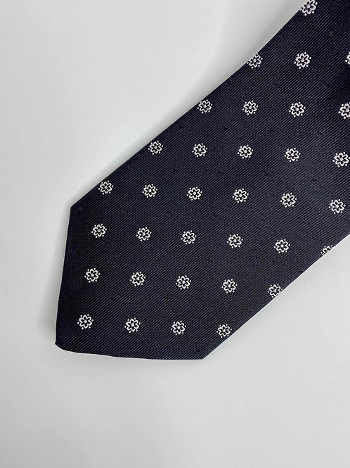 Black Flower Tie