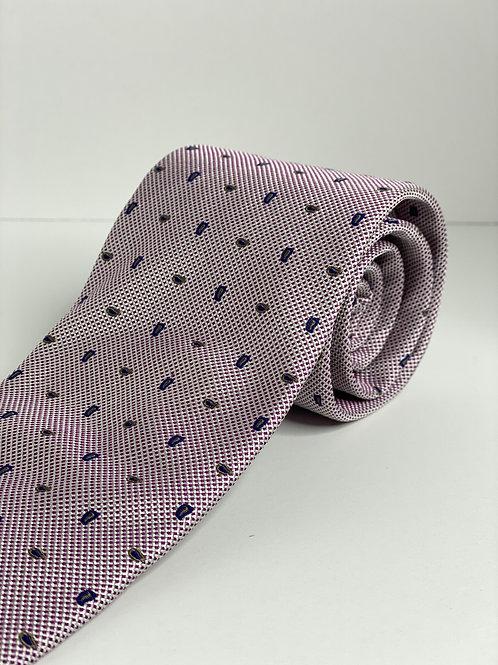 Crystal Pink Mini Paisley Tie