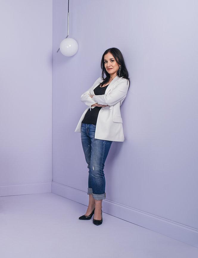 Erika Gonzalez STAAMP CEO custom white t