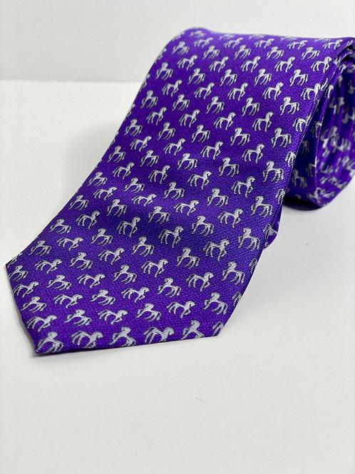 Royal Purple Cadini Horse Tie