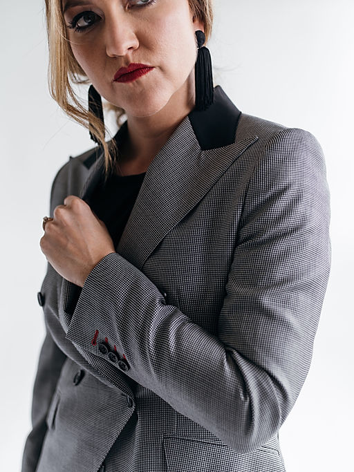 Jenna Saucedo Herrera Custom Houndstooth