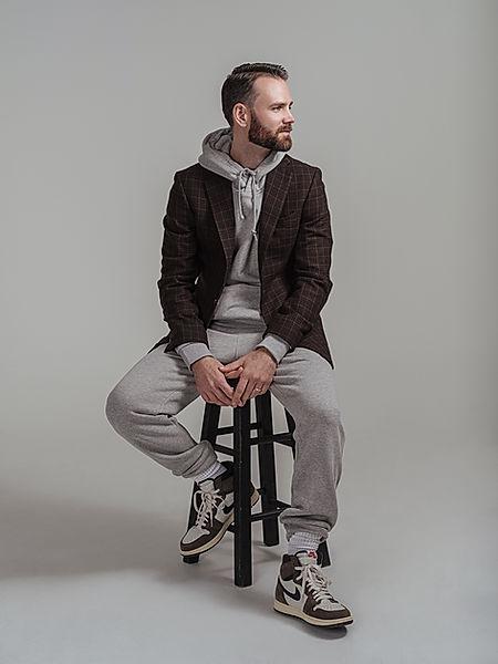 gray sweatsuit with sport coat san anton