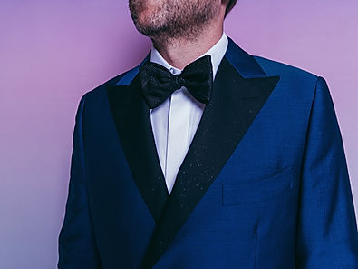 midnight navy custom tuxedo sparkle blac