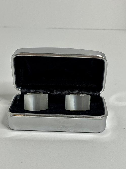 White Rectangle Cufflinks