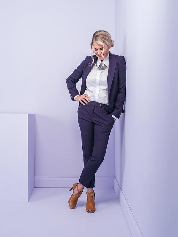 kate harvey custom purple womens suit sa