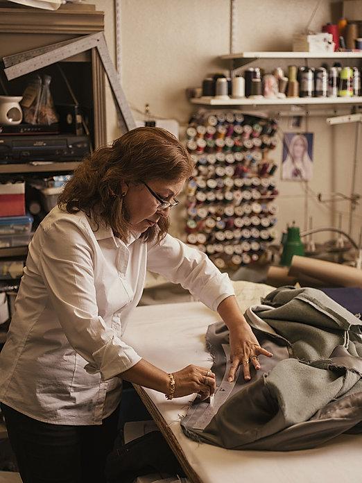 Nancy Pina tailor overcoat custom wool a
