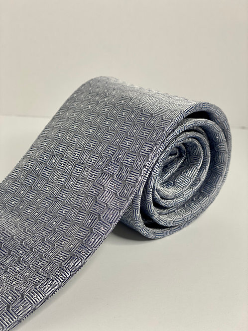 Silver Waffle Texture Tie