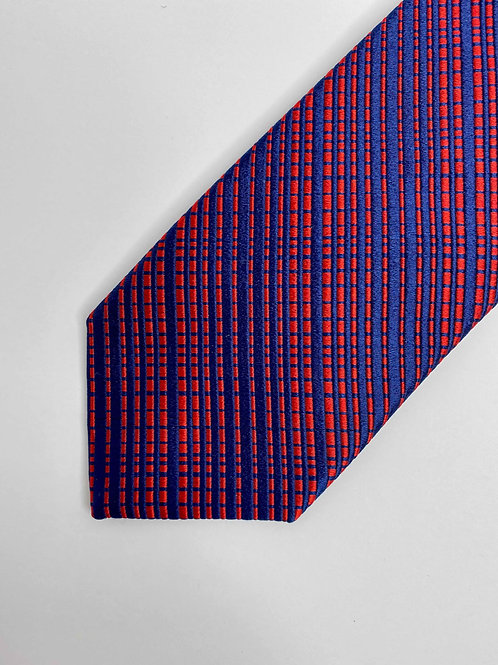 Red and Blue Interwoven Tie