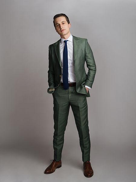custom green linen suit san antonio texa