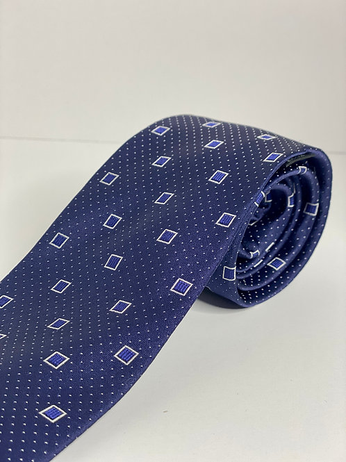 Navy Square Pattern Tie