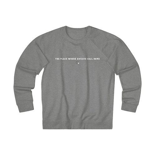 The Place Where Artists Call Home | Graphite Heather Unisex French Terry Crew