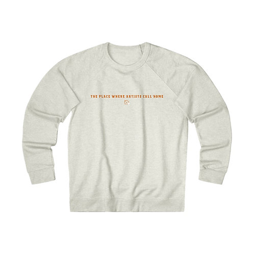 The Place Where Artists Call Home | Oatmeal Heather Unisex French Terry Crew