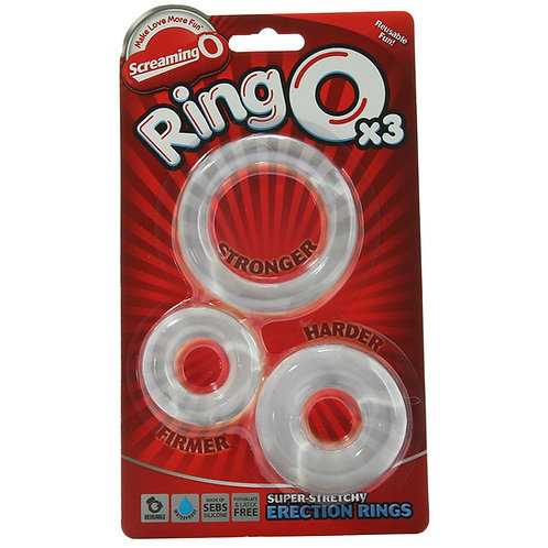 RingO X3 Super Stretchy Erection Rings in Clear