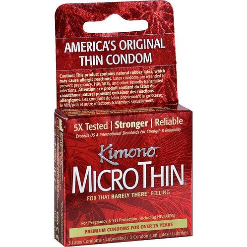 Kimono MicroThin Condoms in 3 Pack