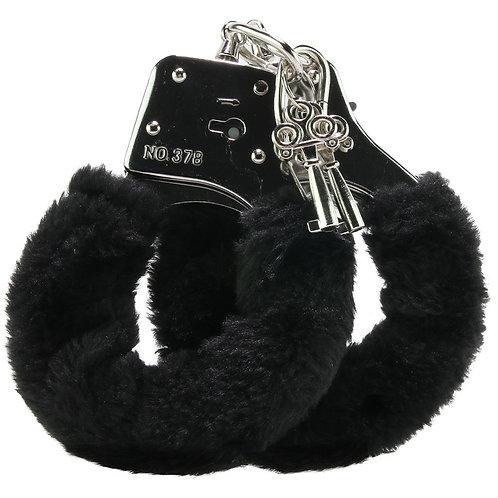 Black Furry Hand Cuffs (Eco-Pack)