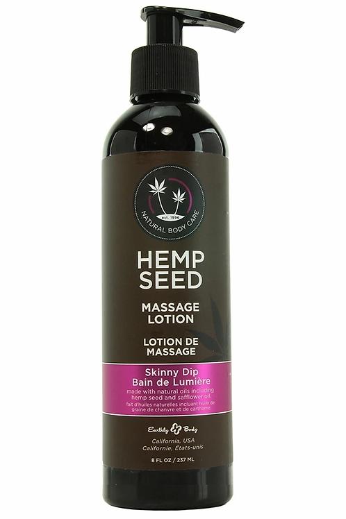 Hemp Seed Massage Lotion 8oz/237ml in Skinny Dip