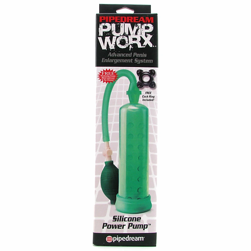 Pump Worx Silicone Power Penis Pump in Green