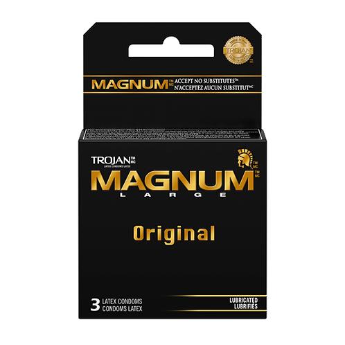 Trojan - MAGNUM™ Original Lubricated Condoms 3 Pack