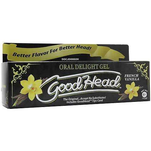 GoodHead Oral Delight Gel 4oz/113g in French Vanilla
