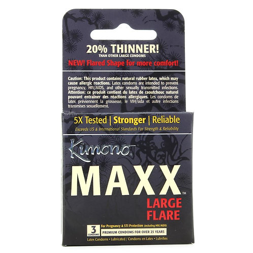 Kimono Maxx Large Flare Condoms in 3 Pack