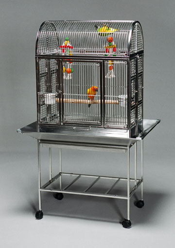 2718 Stainless Steel Motel Bird Cage Stainless Steel