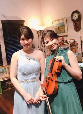 2020年2月 サロンみぎわにて ヴァイオリニスト井阪美恵さんと共演