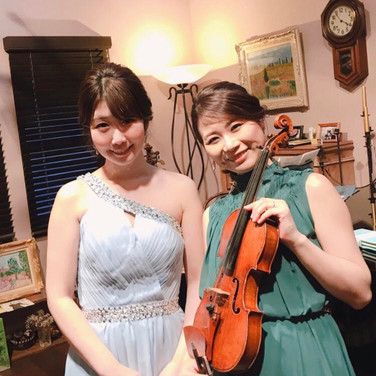 2020年2月 サロンみぎわにてヴァイオリニスト井阪美恵さんと共演。