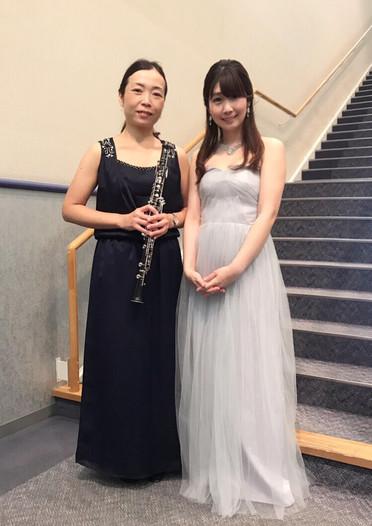 2019年7月 オーボエ奏者須藤かおりさんと共演