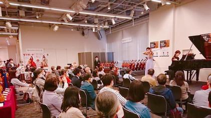 2020年10月 弦楽器大展示会にてヴァイオリニスト 井阪美恵さんと共演