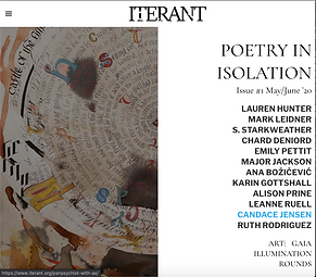 Iterant Mag: Poetry In Isolation from the Ruth Stone House