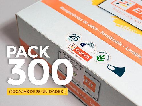 Pack de 300 mascarillas ErgoFit Antibacterial