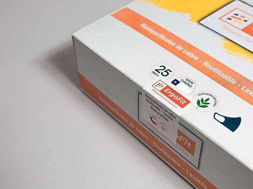 Pack de 25 mascarillas ErgoFit Antibacterial