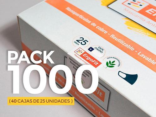 Pack de 1000 mascarillas ErgoFit Antibacterial
