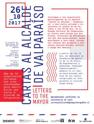 Felipe Assadi participa en Letters to the Mayor / Valparaíso