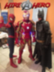 Hire A Hero all characters - Cyprus chldrens party entertainment