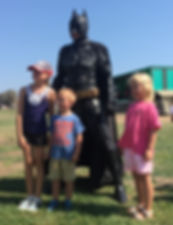 Batman standing guard Cyprus chldrens party entertainment