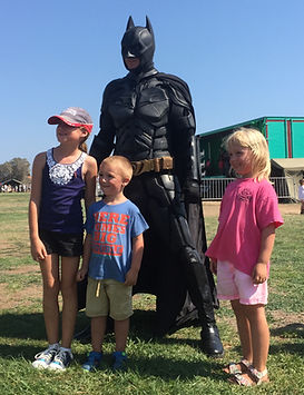 Batman standing guard Cyprus chldrens party entertainment