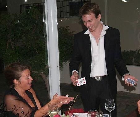 Close up magic at it's best, Paphos party entertainment