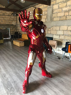 Iron Man ready for action Cyprus chldrens party entertainment