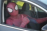 Spiderman takes a drive Cyprus chldrens party entertainment