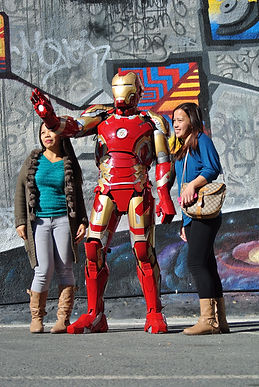 Iron Man getsthe attention Cyprus chldrens party entertainment